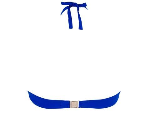 Triangle  Etrave Bleu Ajourage Couture