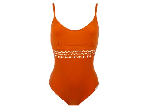 Non Wire Halter Swimsuit Curry Couture Ajourage Couture