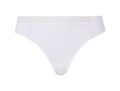Thong Blanc Coton Desir