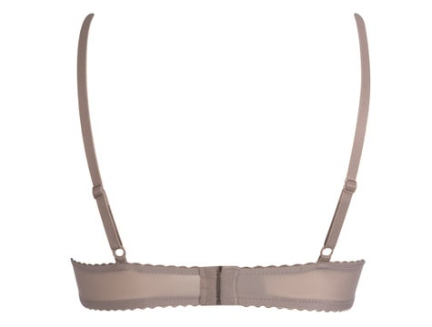 Demi Cup Padded Warm Taupe Satin Seduction