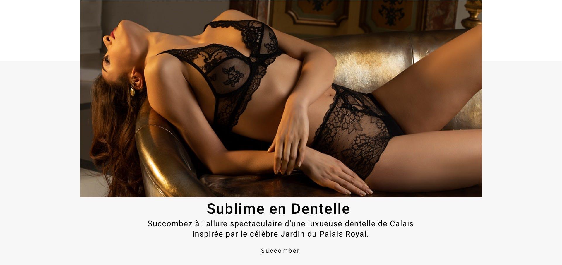 Sublime en Dentelle - Succombez à l'allure spéctaculaire d'une luxueuse dentelle de Calais inspirée par le célèbre Jardin du Palais Royal