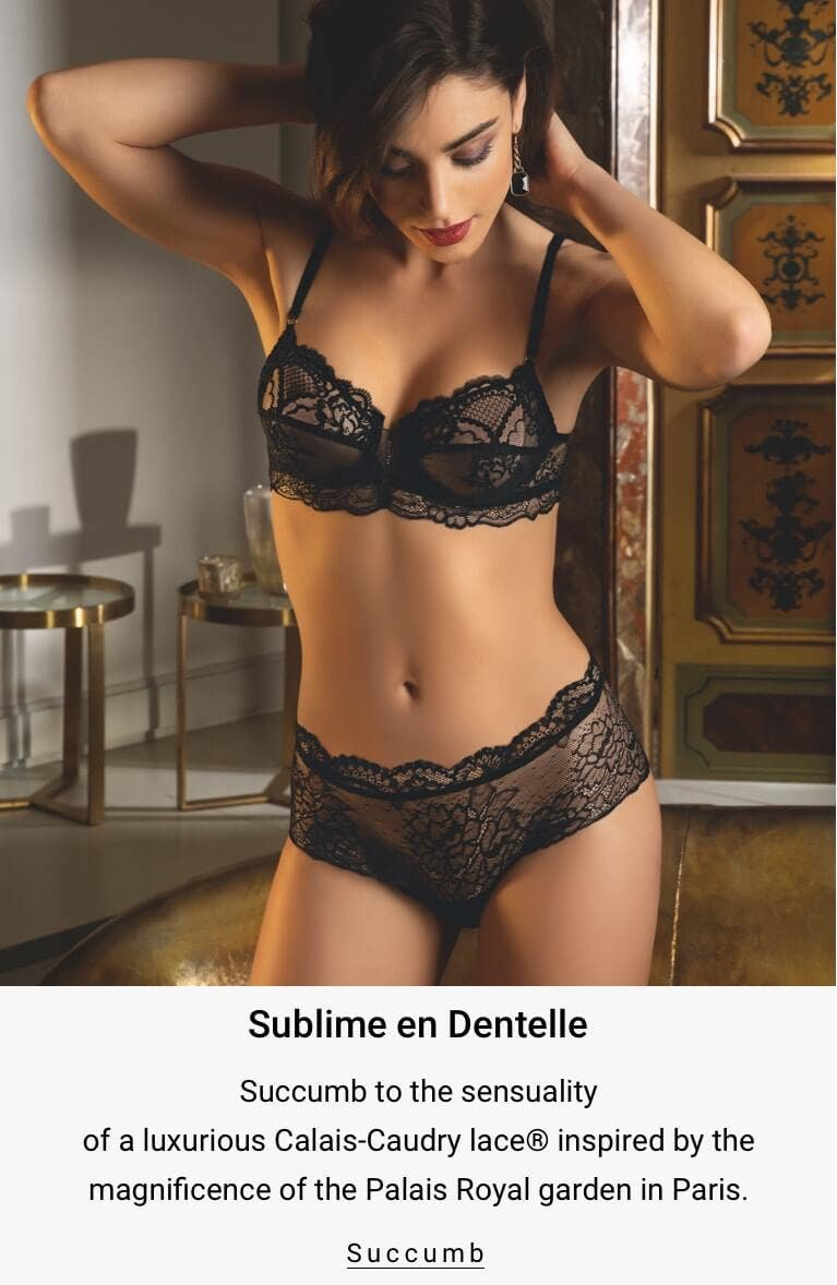 Sublime en Dentelle - Succumb to the spetacular look of a luxurious Calais lace inspired by the famous Garden of the Palais Royal